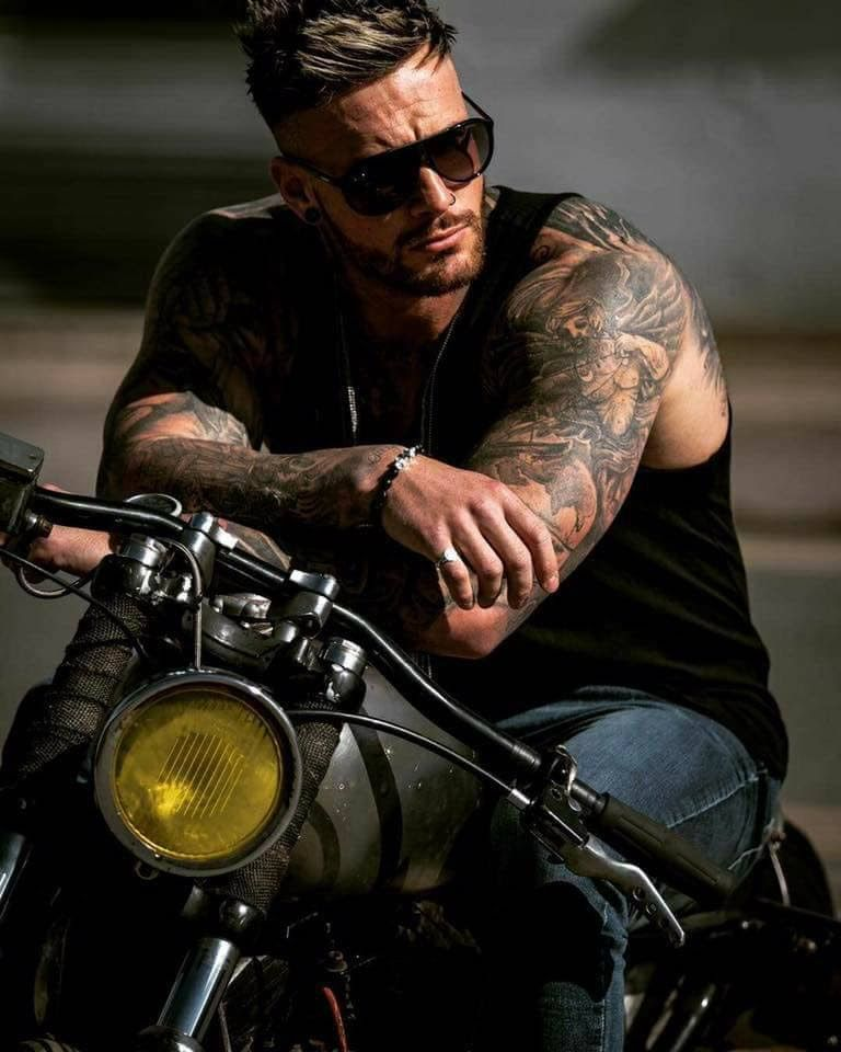 Pin on Men: Bikers and Bikes