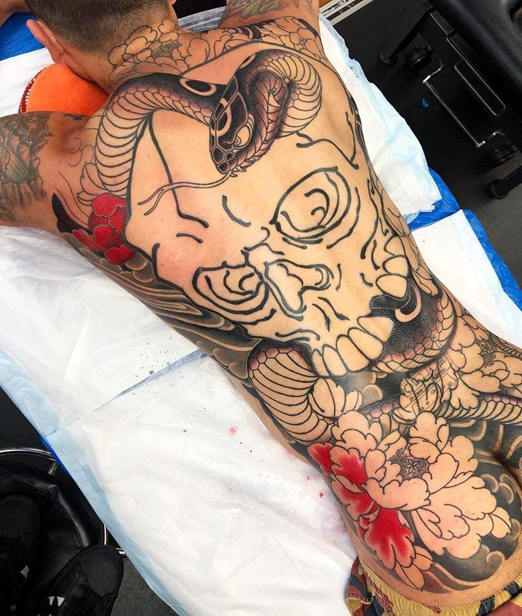 Japanese Inspiration Inkstinct In 2020 Full Body Tattoo Japanese Snake Tattoo Tattoos
