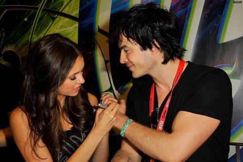 Ian Somerhalder & Nina Dobrev The Vampire Diaries