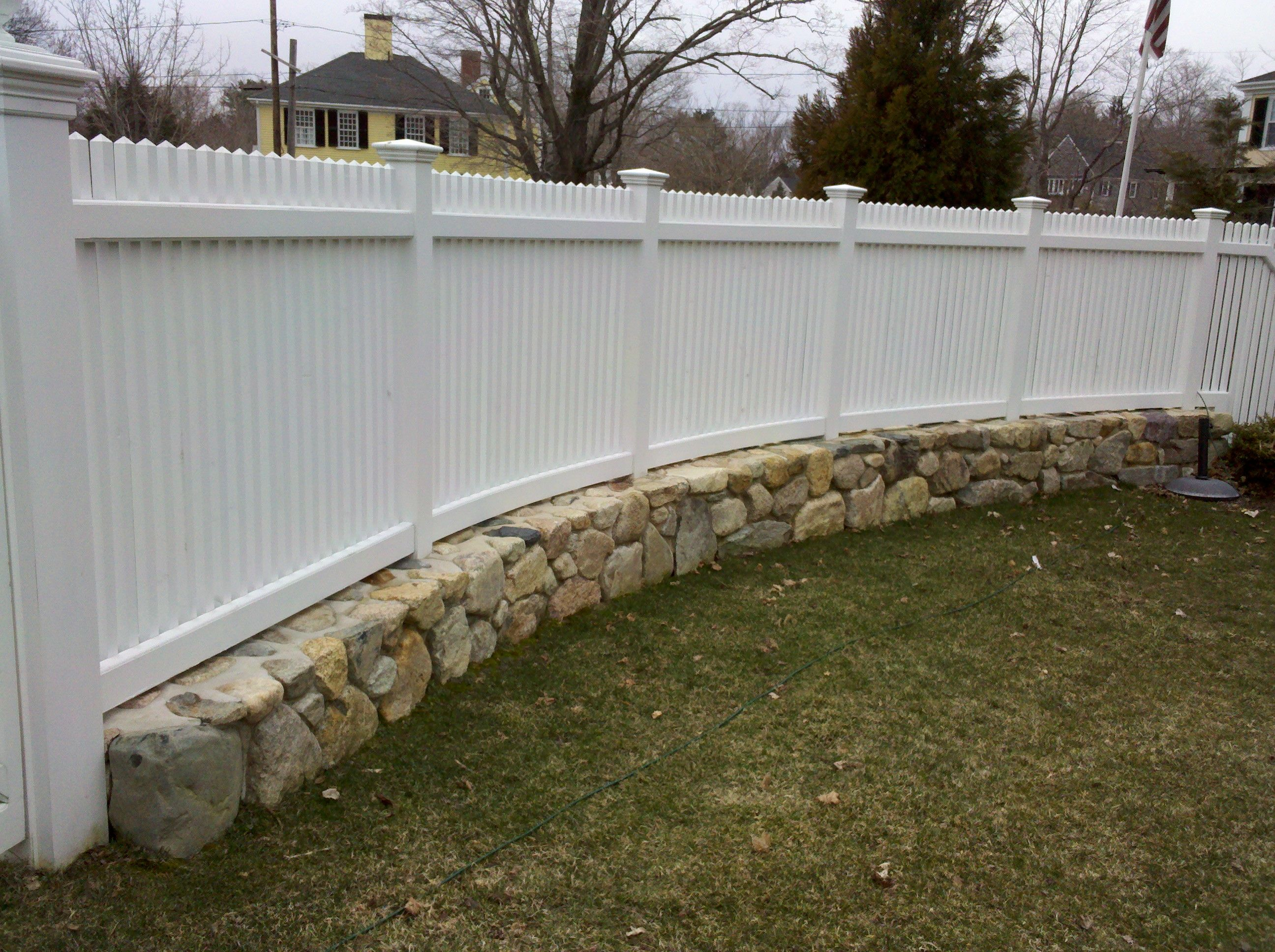 Stone Privacy Fence Ideas