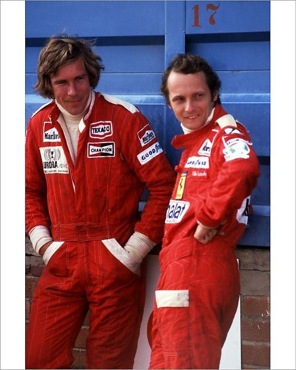 James Hunt Et Niki Lauda : james, lauda, Photograph-South, African, Grand, Prix,, Kyalami,, South, Africa., March, 1976-10