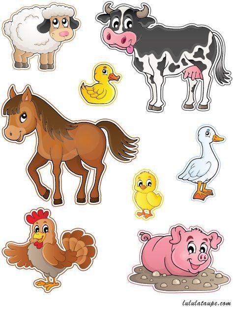 Bevorzugt Découpage gratuit à imprimer, des animaux de la ferme | bricolage  NR79