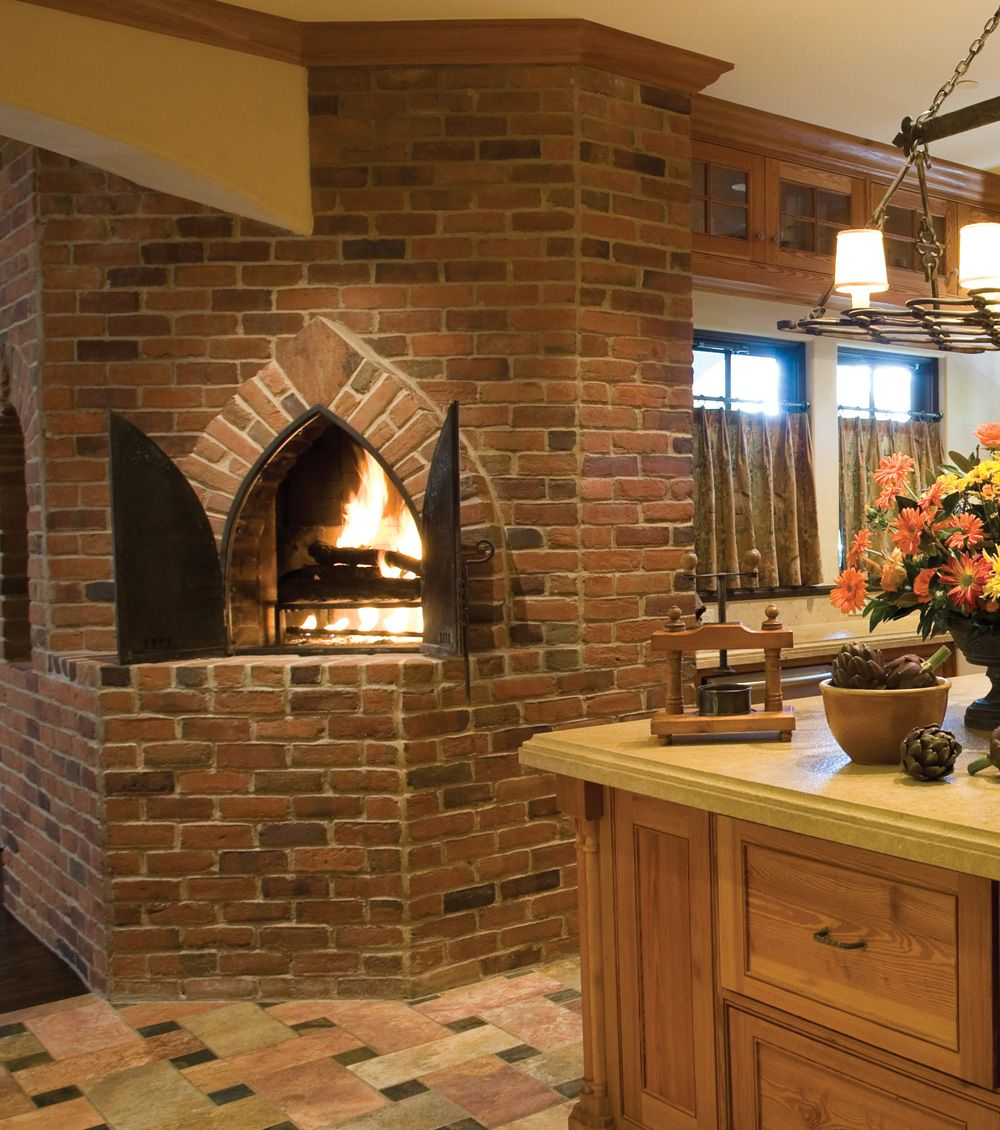Kitchen Interior Timeless Architectural Kitchen: A Brick Oven In The Kitchen. Please Oh Please.....Rogers
