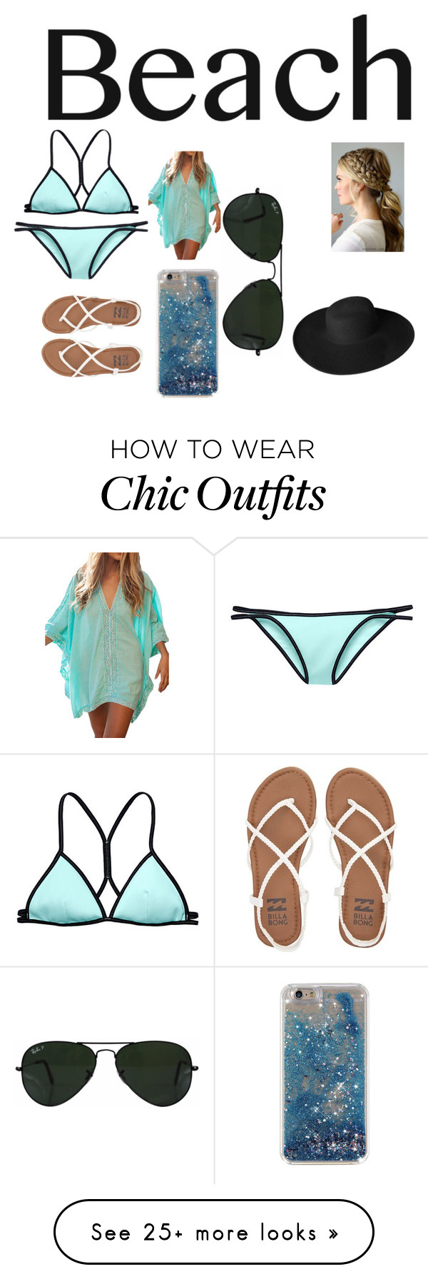 """Chilling In The Sand, Hot And Sezy Look"" by natarjia on Polyvore featuring Victoria's Secret, Billabong, Ray-Ban, Dorfman Pacific, beach and summerdate"