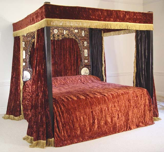 Red Four Poster Bed Furniture I Love Home Curtains