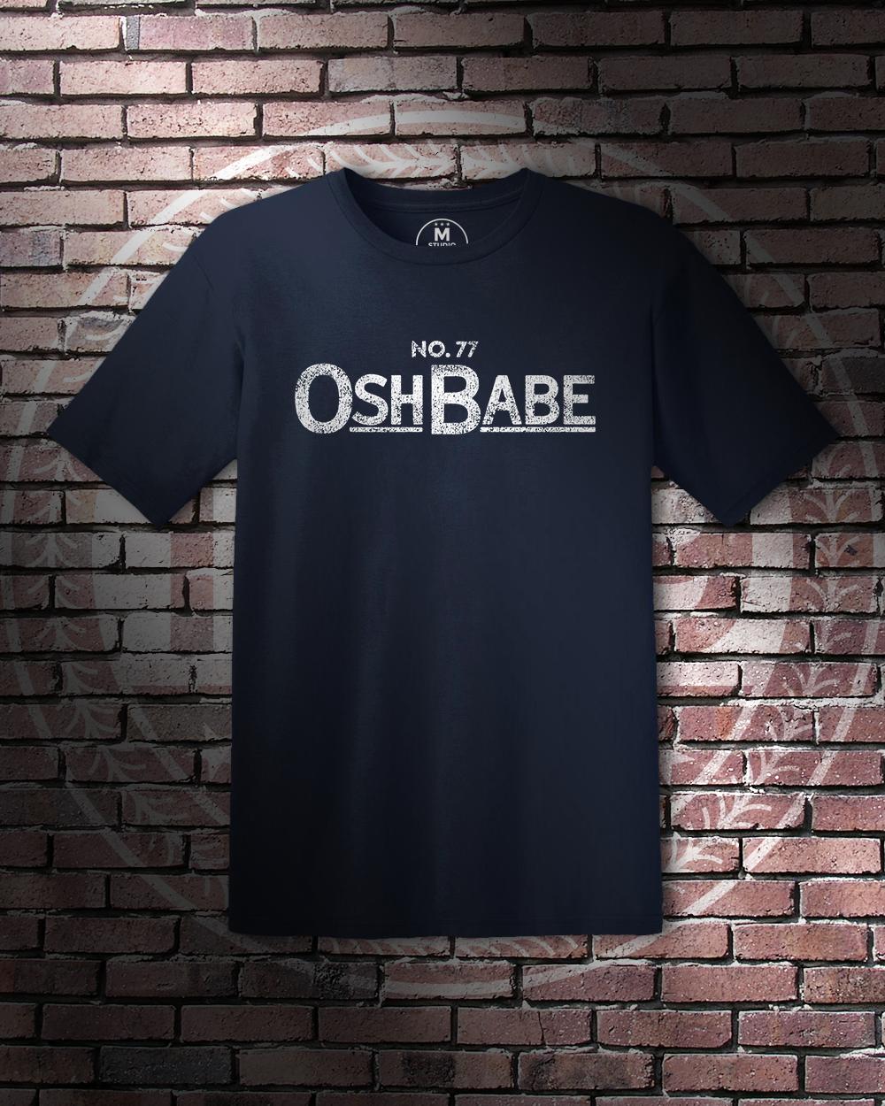 """""""Osh Babe"""" – Unisex Lightweight T-Shirt – Navy – STUDIO 1789 #DC #Capitals #NHL #Hockey #TJ #Oshie #TJOshie #Osh #Babe"""