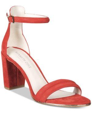 2d38fb47ea3 Kenneth Cole New York Women s Lex Block-Heel Sandals - Tan Beige 11M ...