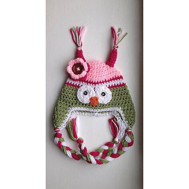 Ravelry: Owl Hat 12m pattern by Regina S. Graham | búho amigurumi ...