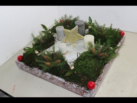 diy selbst gemachter stern als adventskranz mit moos dekoriert youtube adventskranz