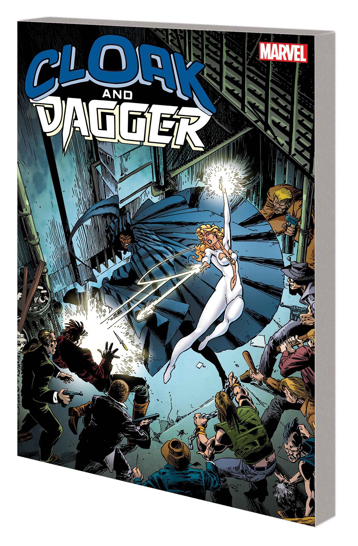 CLOAK Y DAGGER: PERDIDO Y ENCONTRADO TPB Vigilantes urbanos Capa y Daga atacar a los traficantes de drogas y la corrupción de la policía!  Pero cuando Cloak abraza su oscuridad, y visita el terror en los siervos del pecado, Dagger anhela la luz.  ¿Pueden estos jóvenes héroes encontrar su camino juntos, o todos se perderán?  El Padre Delgado quiere rescatar a Dagger de la influencia corruptora de Cloak, y Spider-Man puede interponerse entre ellos, ¡pero una tentadora oferta del todopoderoso…