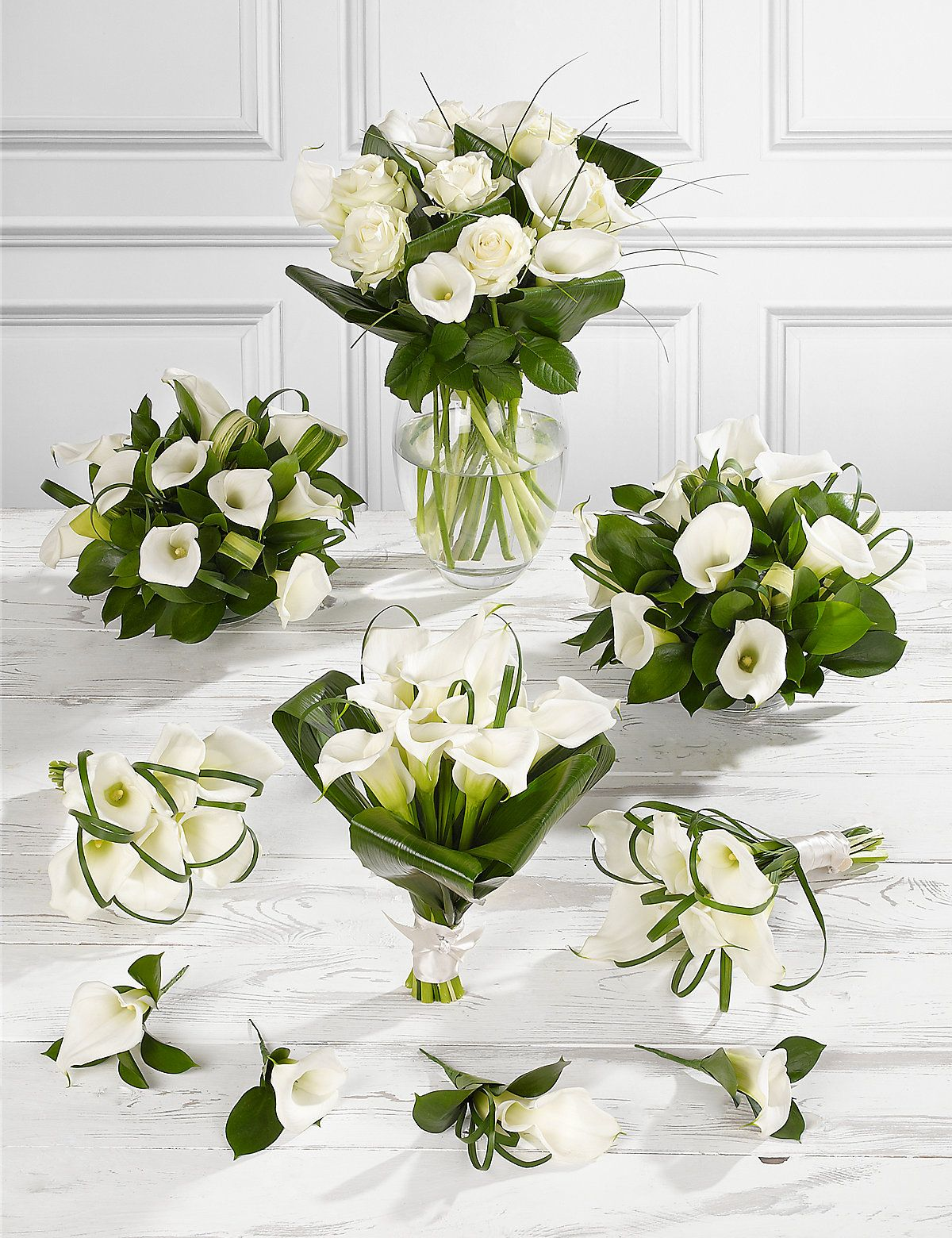 White Wedding Calla Lily Collection 4 | M&S | Centerpieces and ...