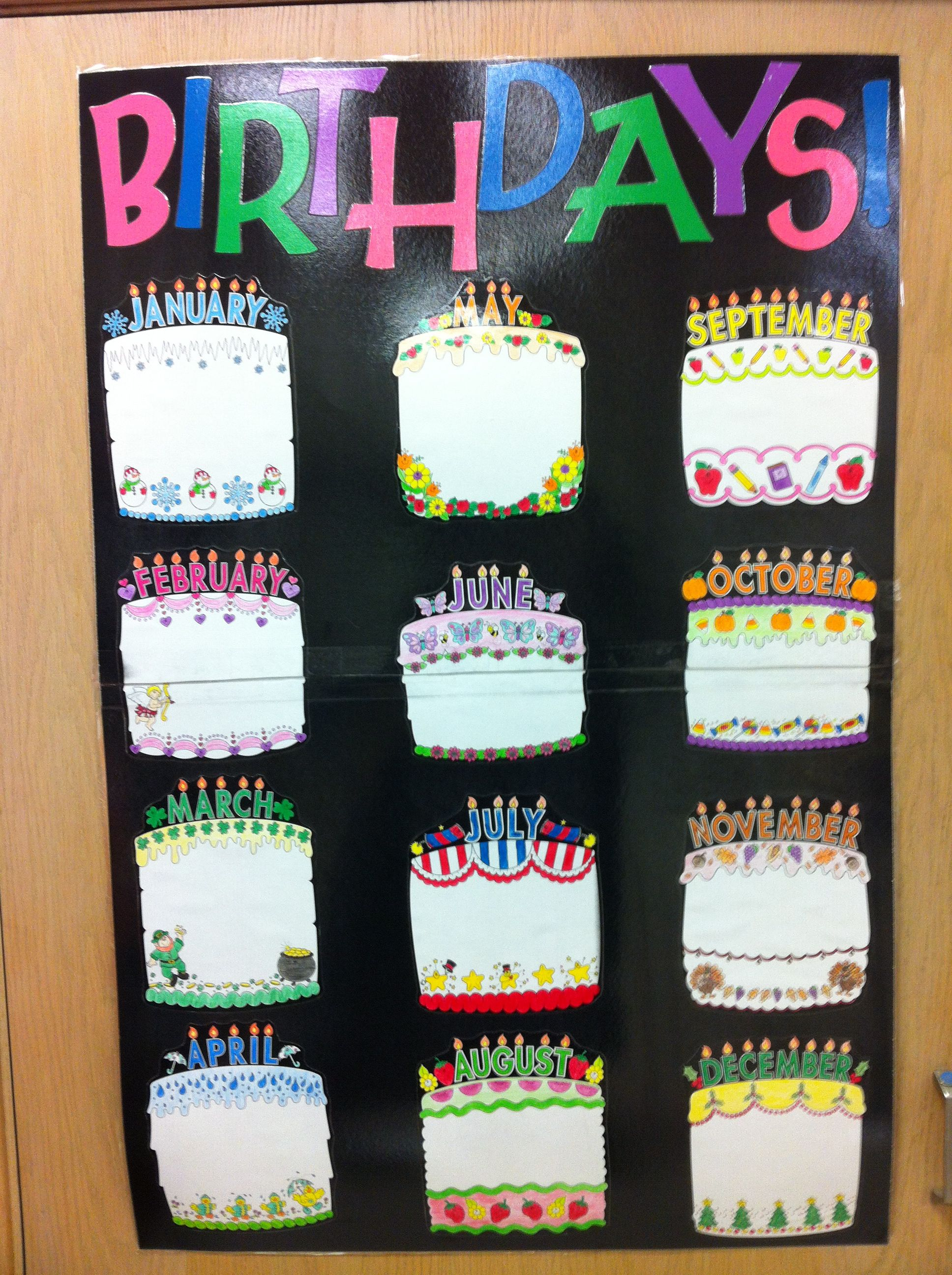 Birthday Chart Take Pictures Of The Students Holding Their