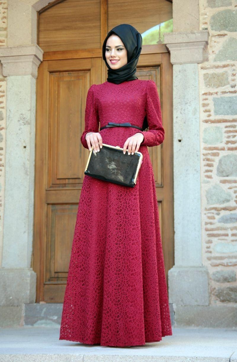 Muslim Wear That Is Elegant Long Sleeve Prom Dress Lace Lace Evening Dresses Evening Dresses [ 1221 x 800 Pixel ]