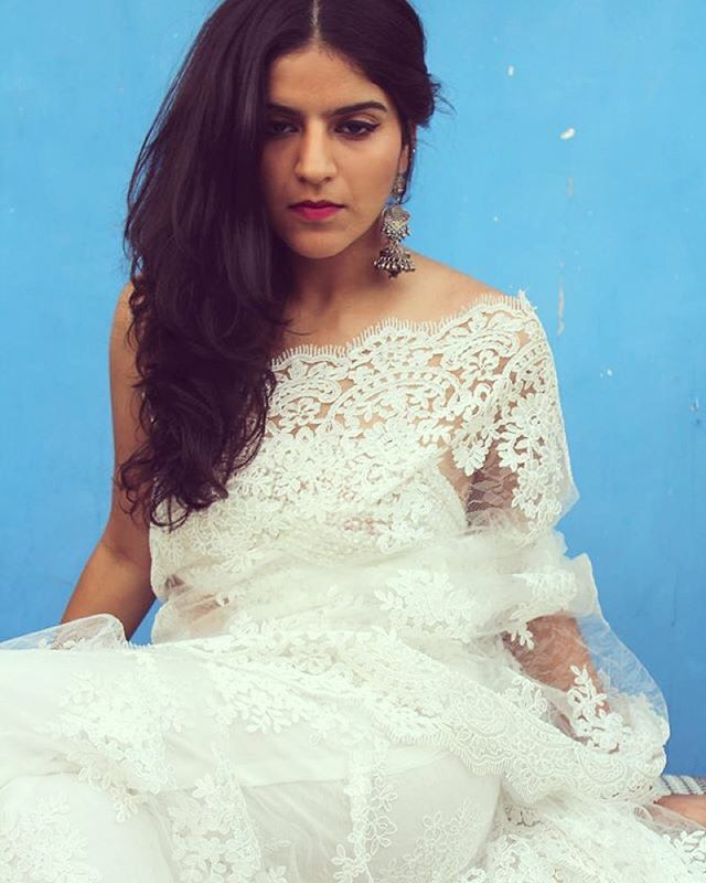 3 Home Decor Trends For Spring Brittany Stager: Stunning White Lace Saree By Karishma Khanduja