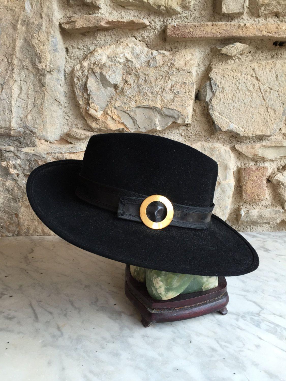 Cappello Gallia Peter   Cappello Vintage Nero   Copricapo donna Fedora    Cappello unico   Cappello d epoca by nonaprirequellarmadi on Etsy c8b480c560a3