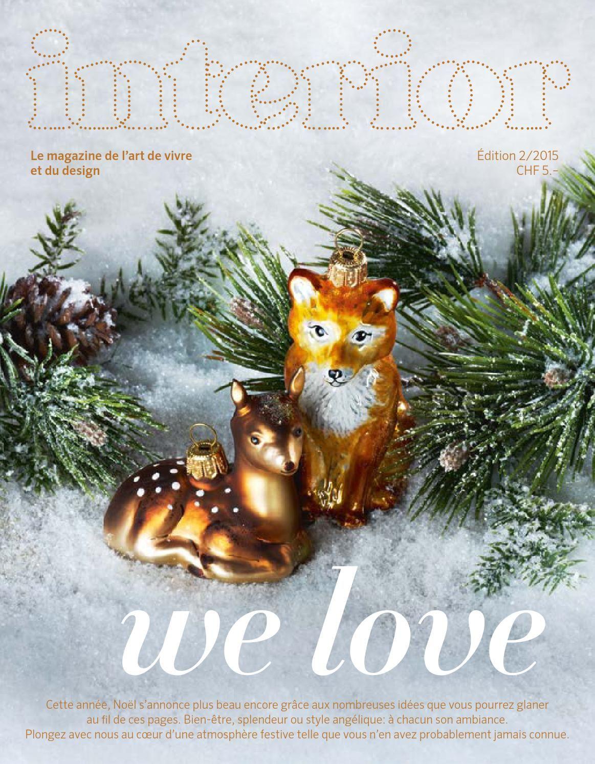 interior magazine édition 2/2015 Christmas art