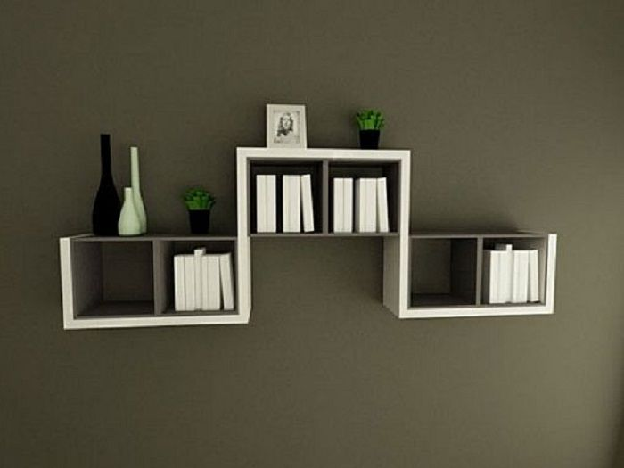 decorative wall mounted book shelves design httplanewstalkcomawesome - Wall Hanging Shelves Design