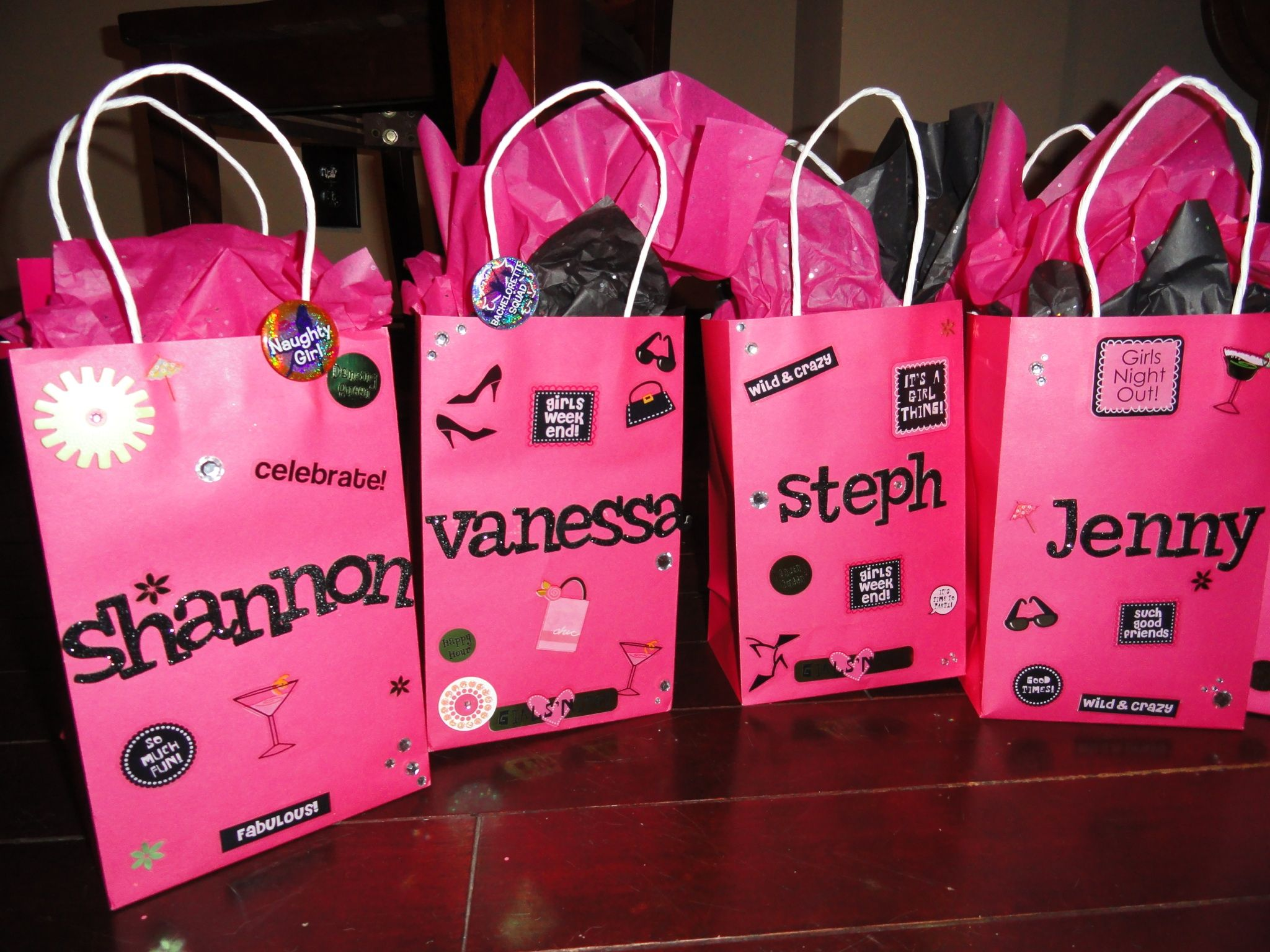 the gift bags I made for my sisters bachelorette party! | Wedding ...