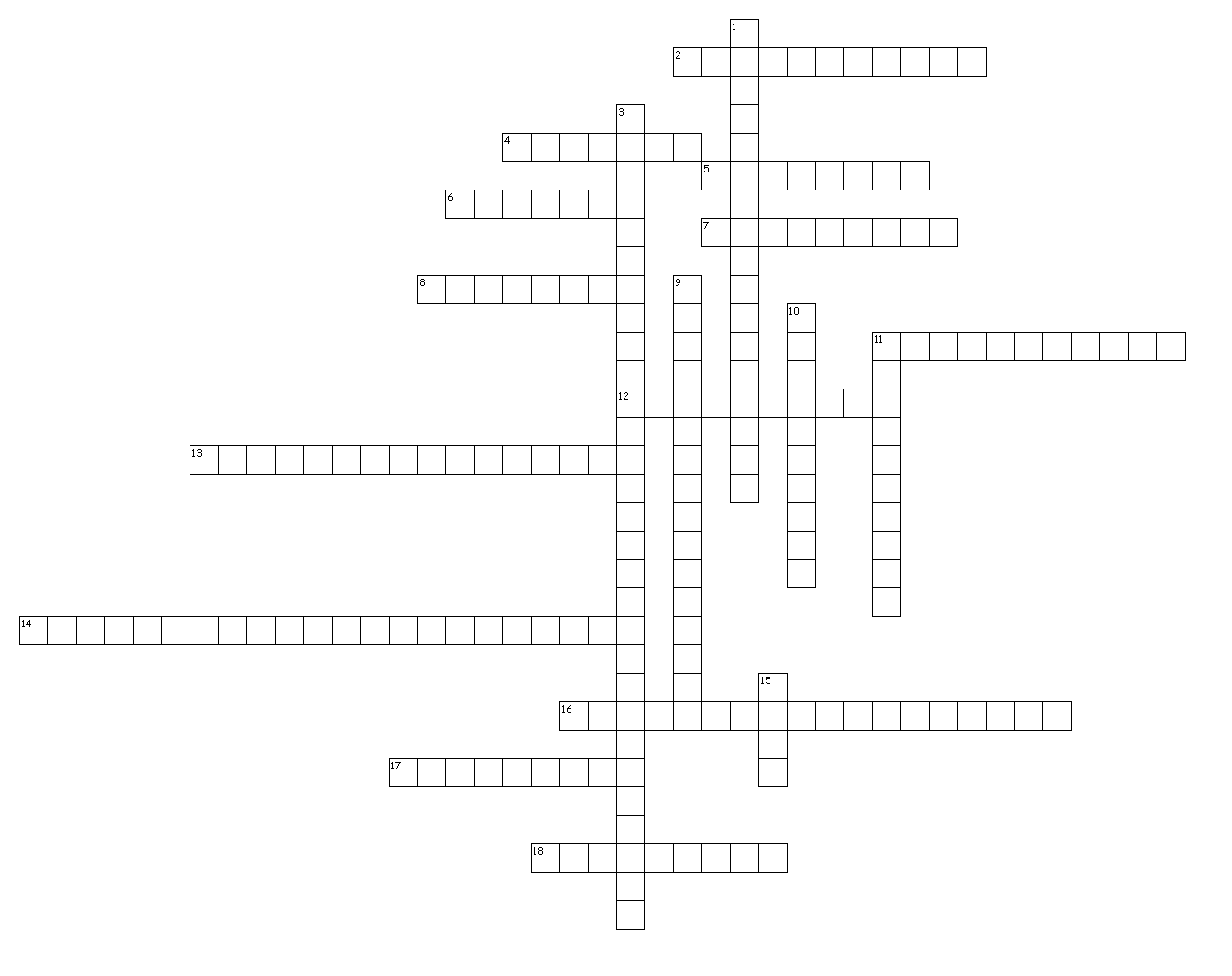Criss Cross Puzzle