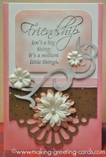Pink friendship greeting card friendship isnt a big thing its a pink friendship greeting card friendship isnt a big thing its a million little things m4hsunfo Image collections