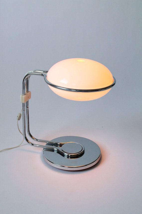 70s CHROME & PERSPEX table lamp Italian by VINTAGELAMPDEN on Etsy