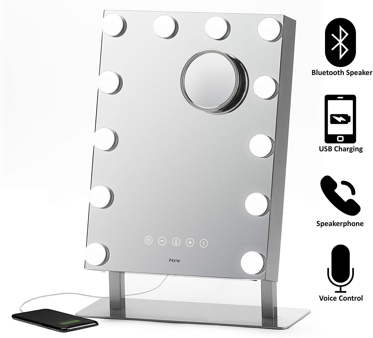 Vanity Mirror PRO with Built in Bluetooth, Voice Control