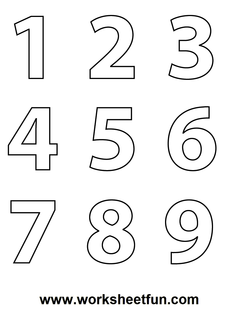 Numbers Colouring Sheets   DS Prek    Math