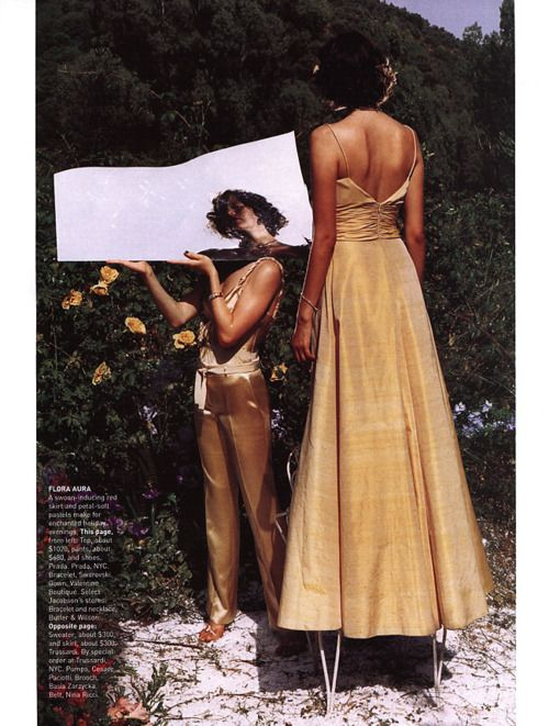 Emily Sandberg andJasmine Guinness by Tim Walker forHarper's Bazaar US (December 2000).