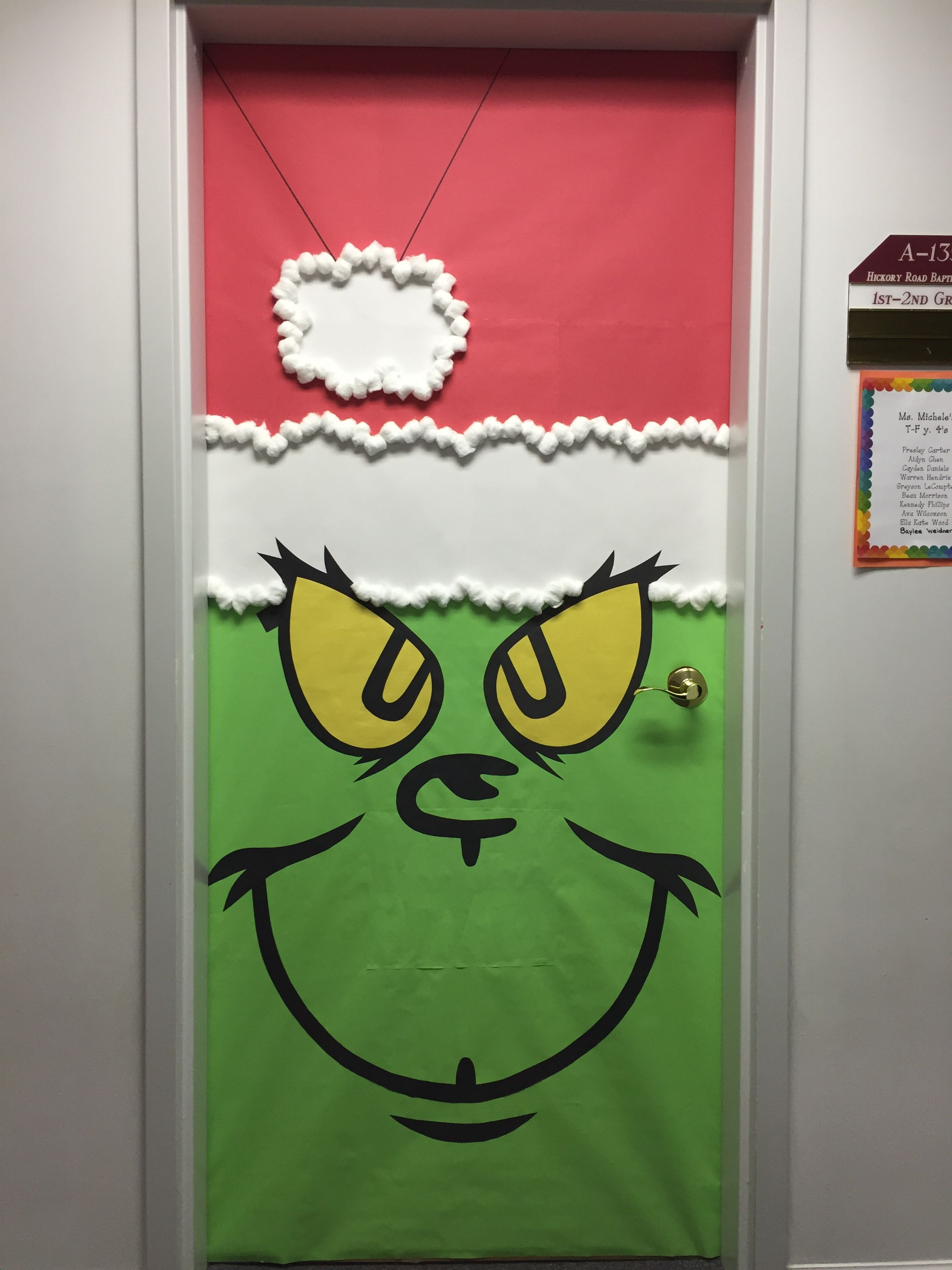 Grinch Christmas Door Decorations - Christmas Lights Card ...