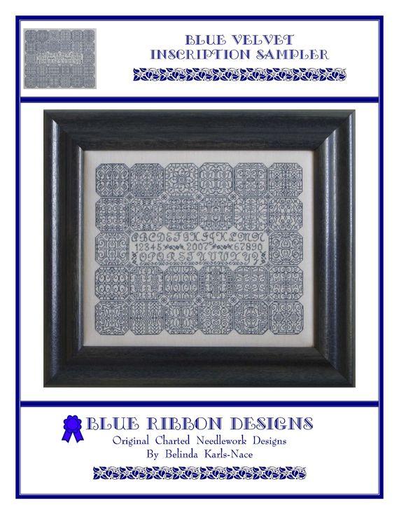 Blue Velvet Inscription Sampler