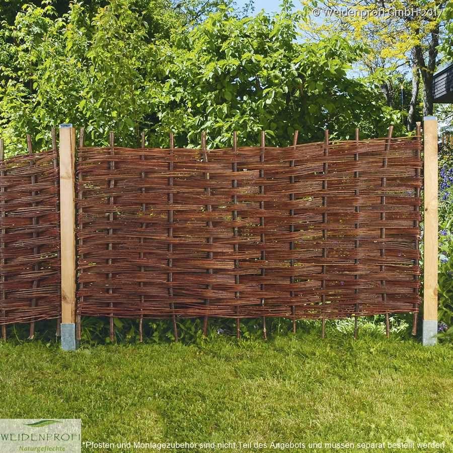 Gartenzaun Mit Besonderer Flechtoptik Weidenruten Wurden