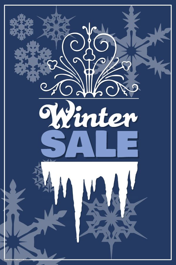 Winter Retail Sale Design Poster Template With Images Sign