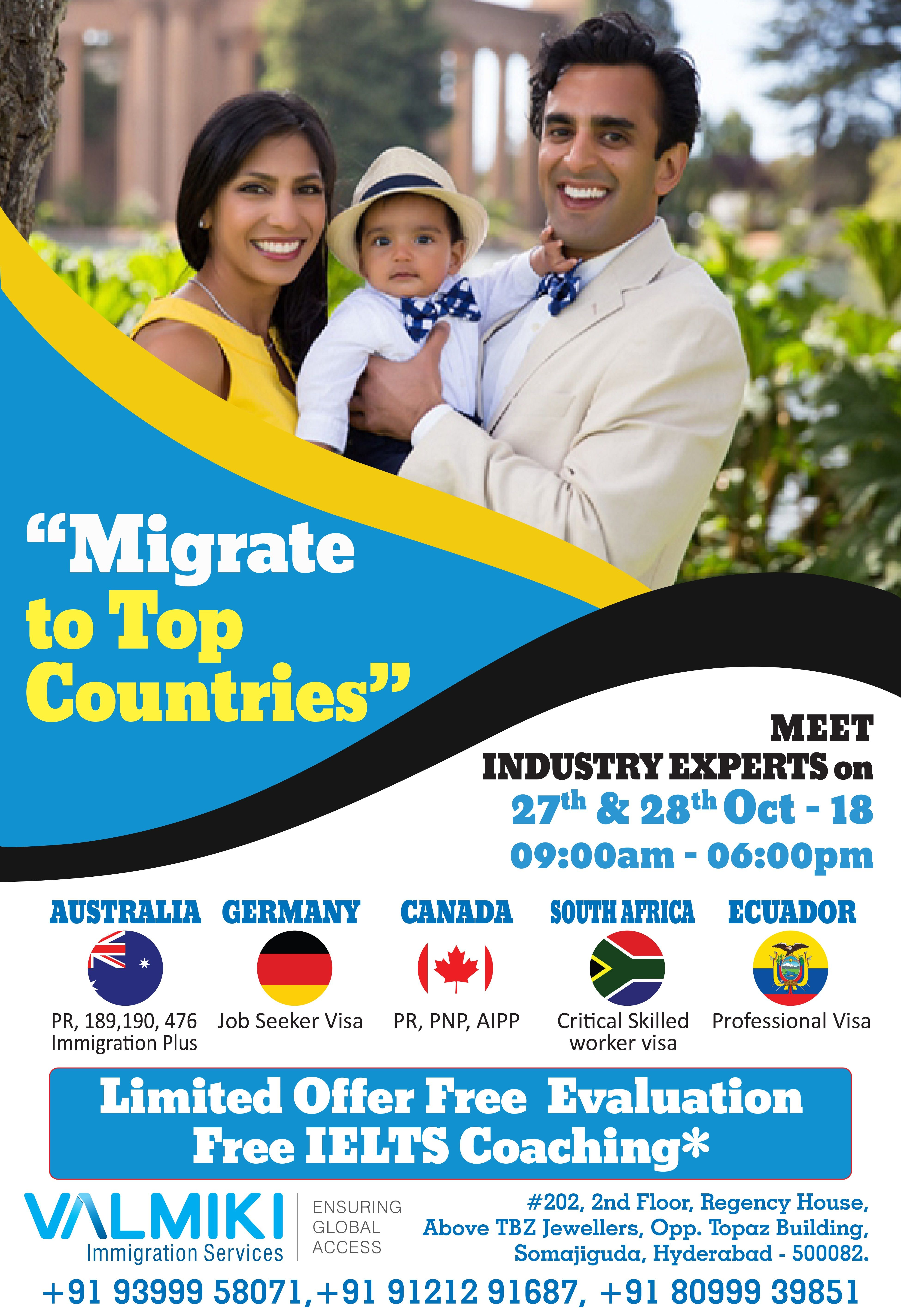 Want to Settle Abroad? Meet industry experts on 27th & 28th October