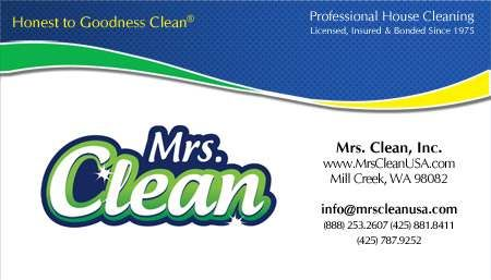 cleaning business cards