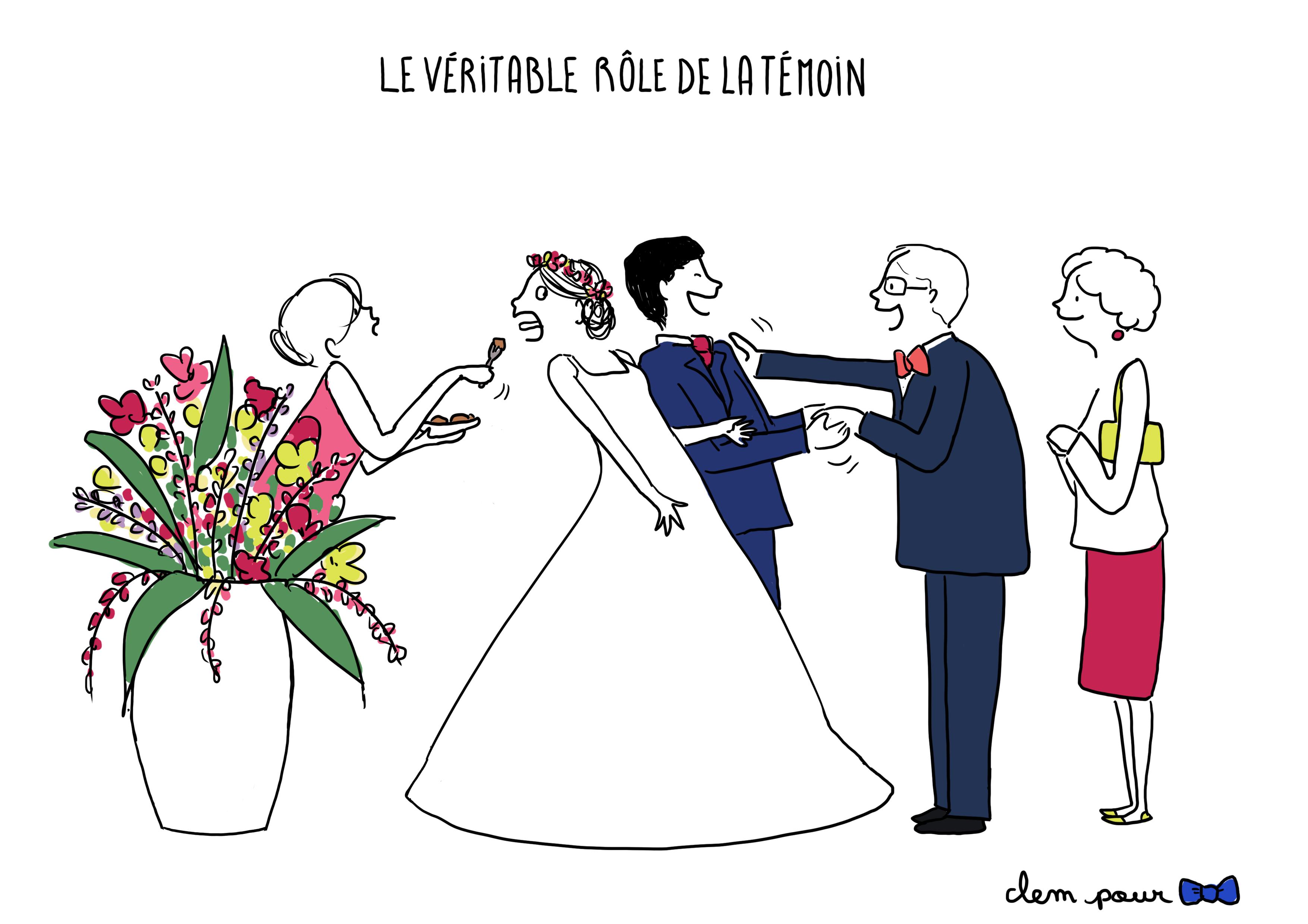 Le vrai rôle de la témoin de la mariée