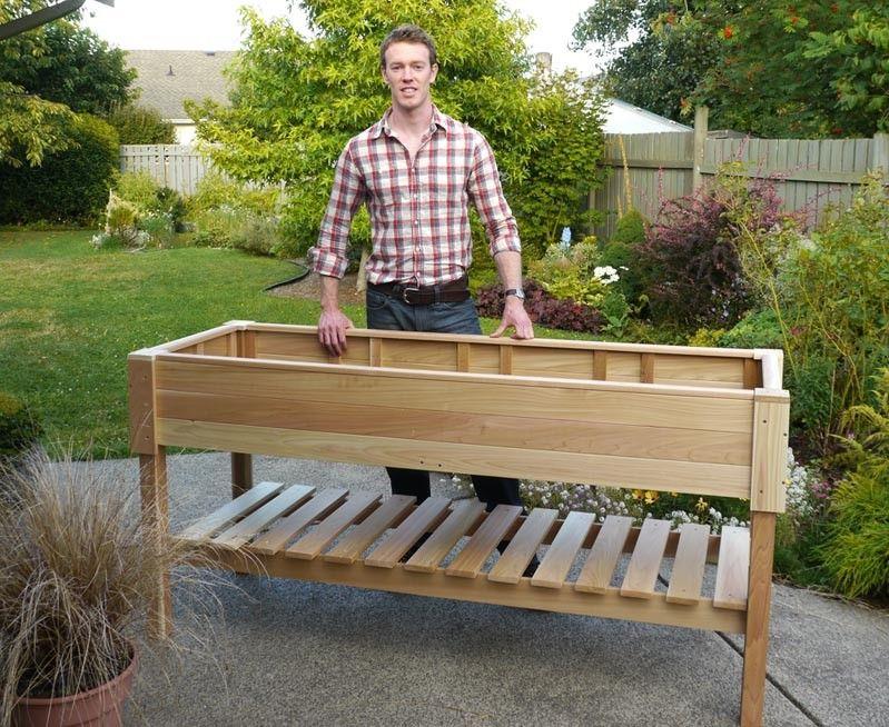 Natural Cedar Planter Boxes Raised garden planters