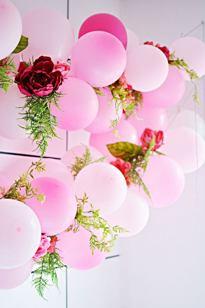 Diy flower balloon garland pinterest