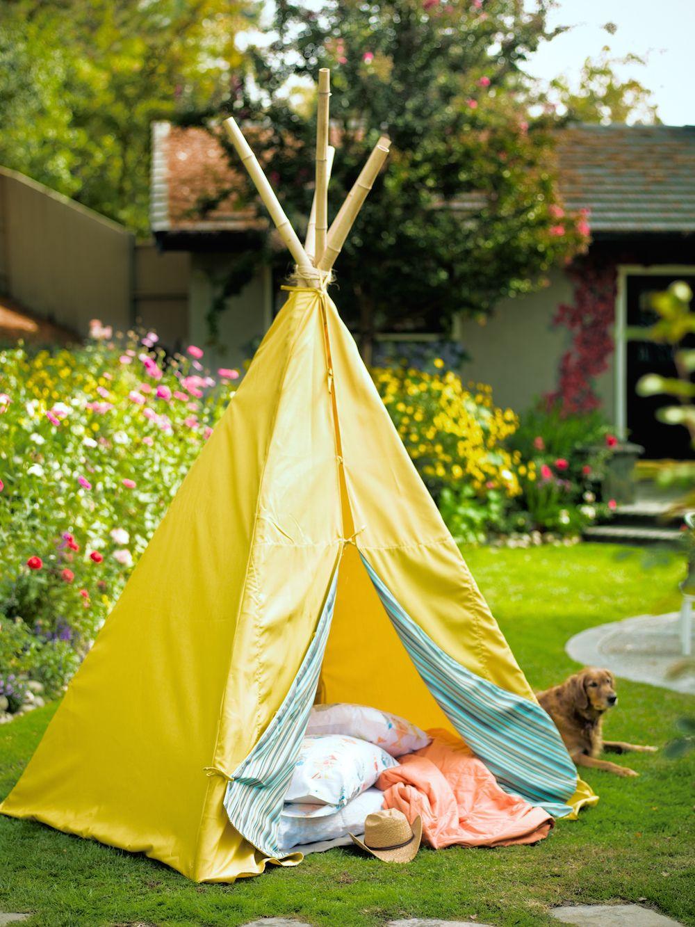 How to Make a Backyard Tipi | Outdoor, Backyard getaway ...