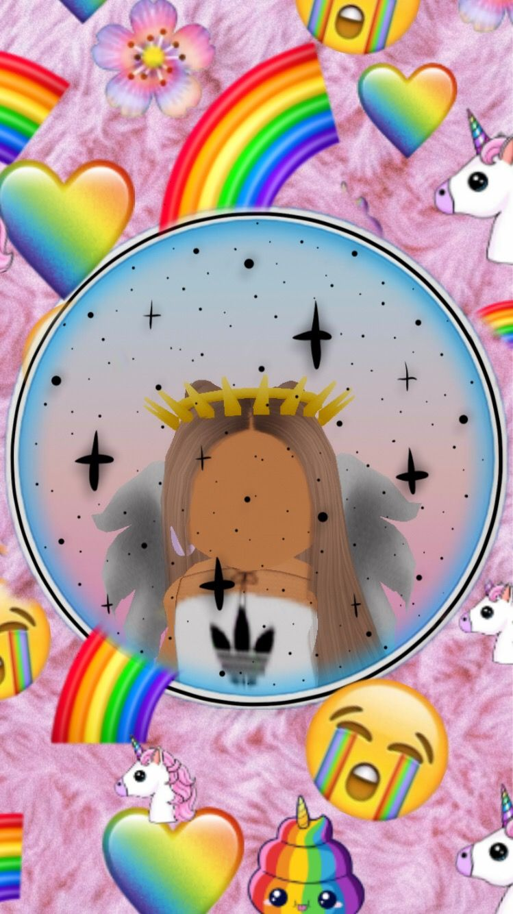 Freetoedit Its A Roblox Girl Roblox In 2020 Cute Tumblr Wallpaper Roblox Animation Unicorn Wallpaper Cute