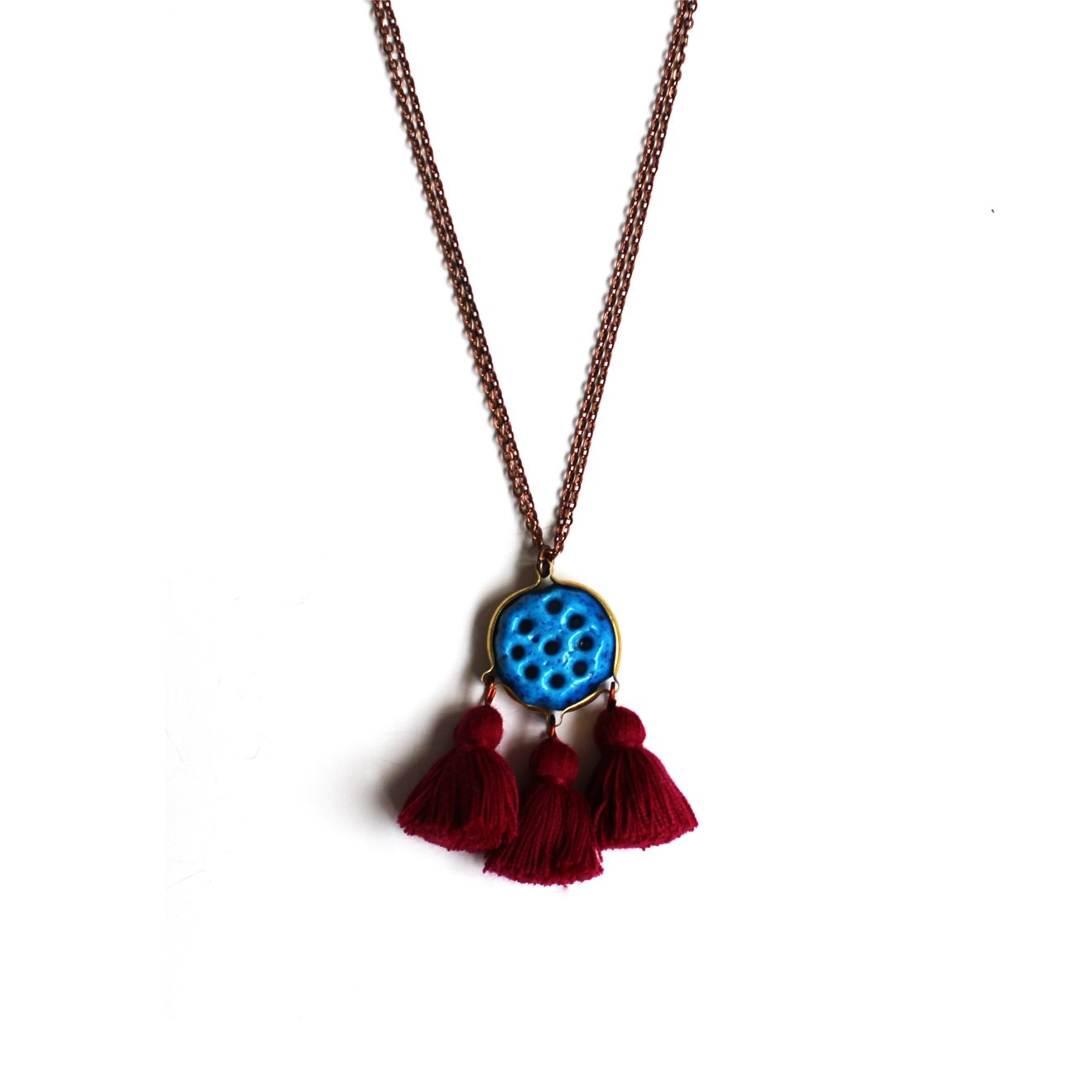 "The Persian ""Khar Mohre"" Necklace Is A Cute Piece Made"