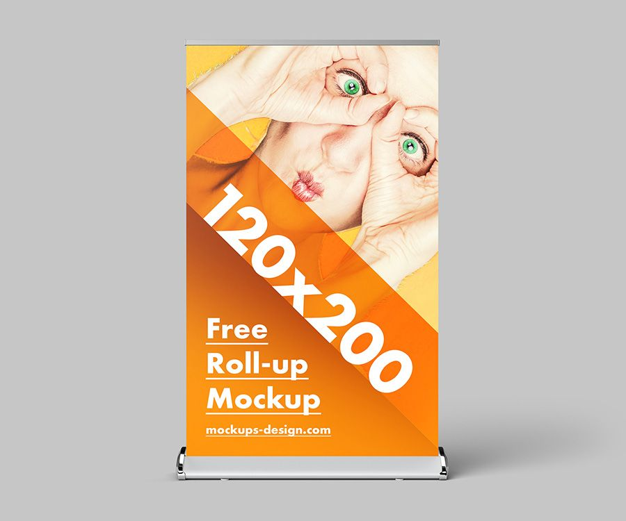 Free Roll Up Mockup 120x200 Cm Mockups Design Free Premium Mockups Mockup Design Mockup Poster Mockup
