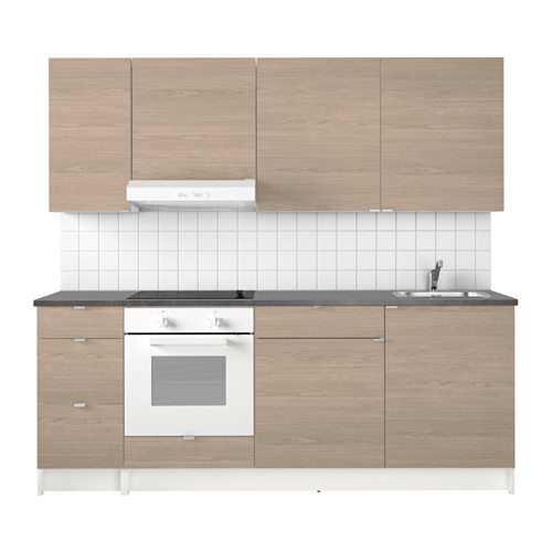 Fabulous KNOXHULT Küche, Holzeffekt grau GG48