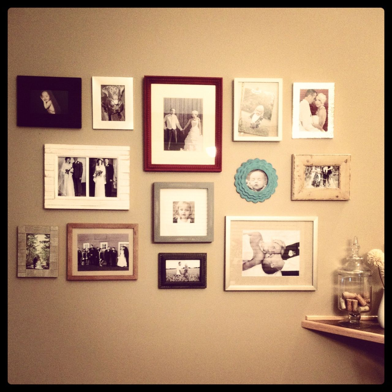 a picture is worth a thousand words.... my own photo frame collage ...
