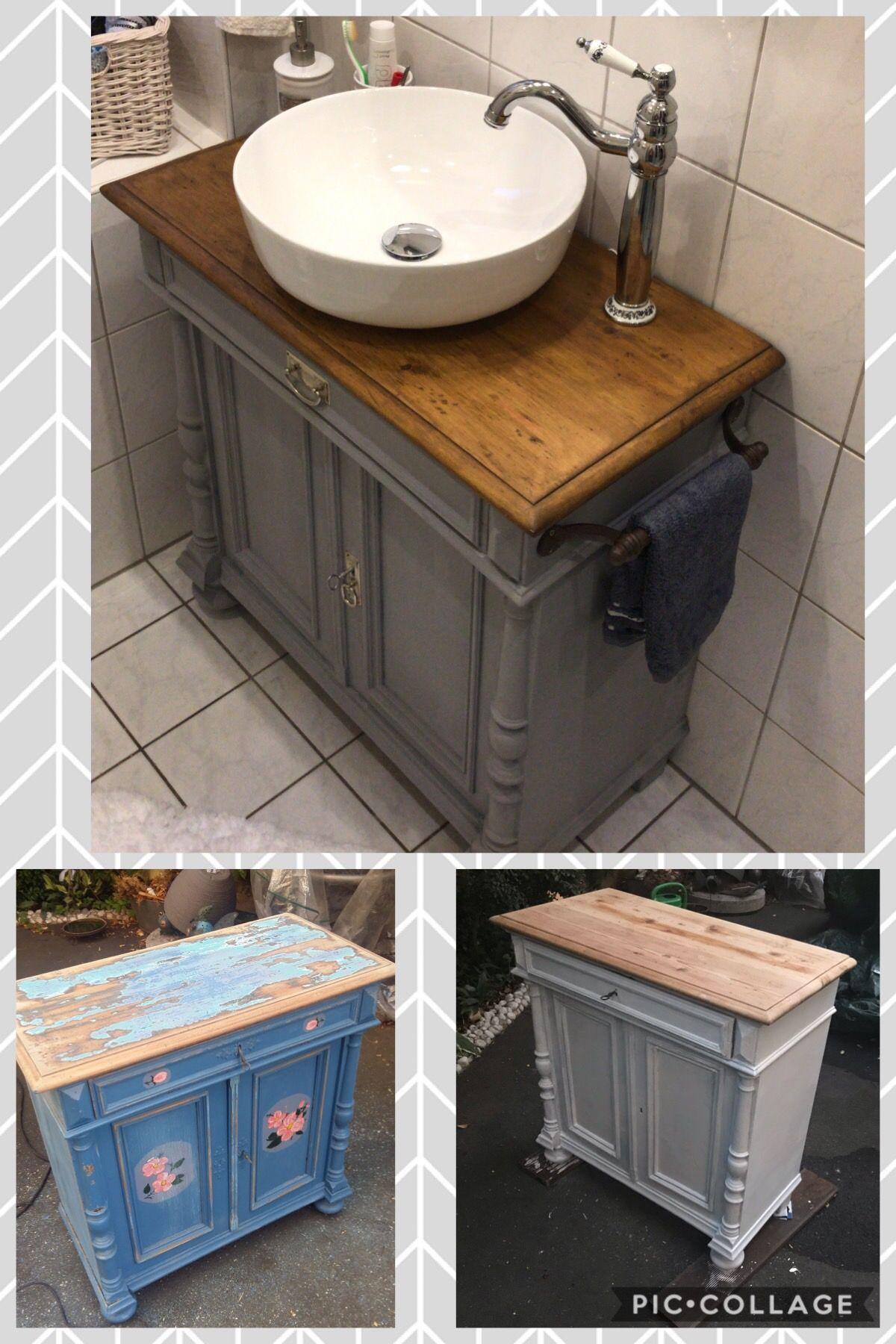 Waschtisch Kreisefarbe Kommode Shabby Design Badumbau
