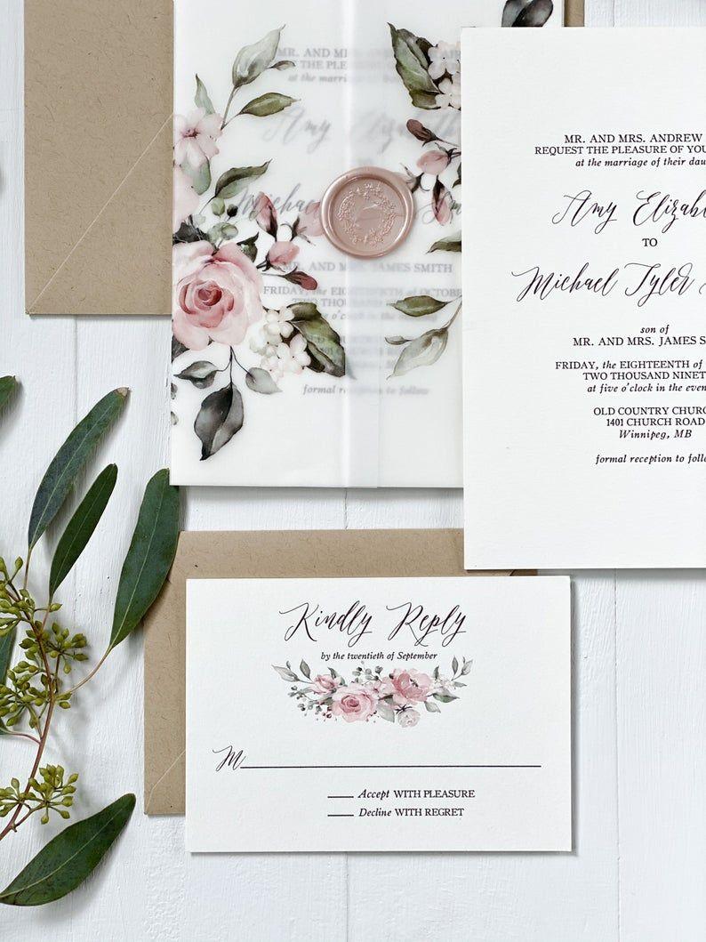 34++ Vellum wedding invitations etsy information