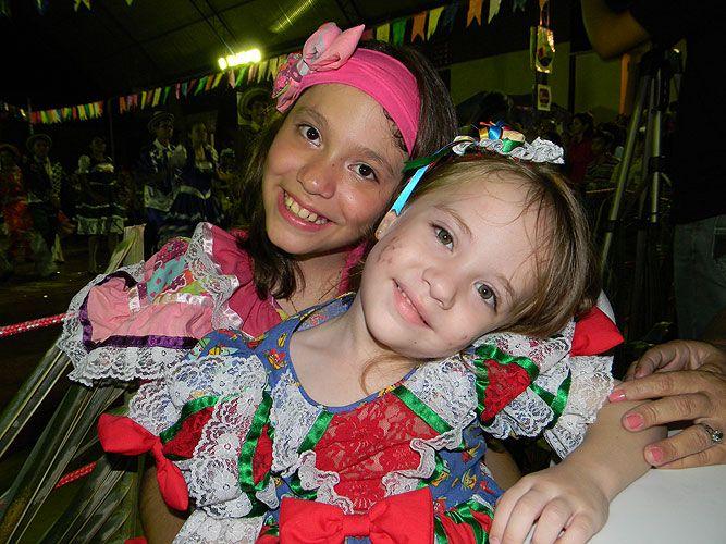 Brazilian little girls in typical attire (Cajazeiras, Paraíba).