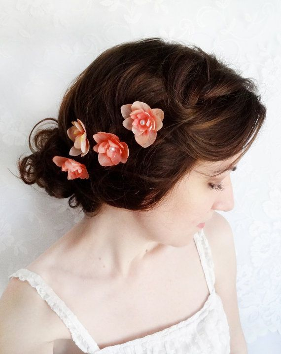 Floral Headpiece Flower Hair Clip in Pink and Purple| Bridesmaids Hair Clip Silk Flower Clip Bridal Hair Clip Flower Bun Clip