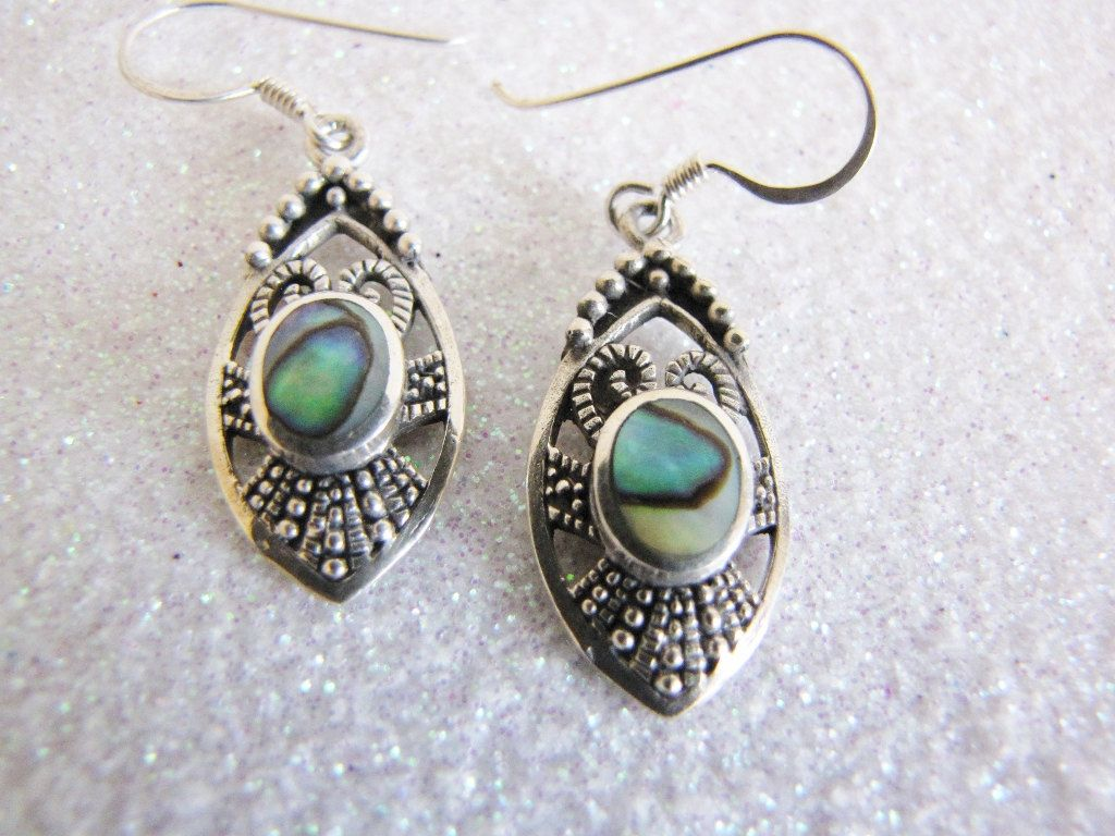 Sterling Sterling Dangle Earrings With  by PortalsMagicCloset, $49.50