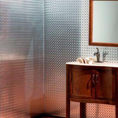 Diamond Plate 96 in W x 48 in H x 0013 in D Decorative Wall