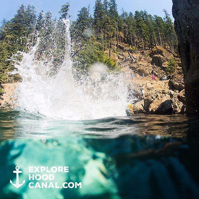 #sploosh #bigrock #lakecushman #olympicpeninsula #wildsideWA #explorehoodcanal #hoodcanal #olympicnationalpark #beauty #summer #amazing #awesome #nature #beautiful #cool #happy #instagood #fun #blue #rockjump #lake #nationalforest